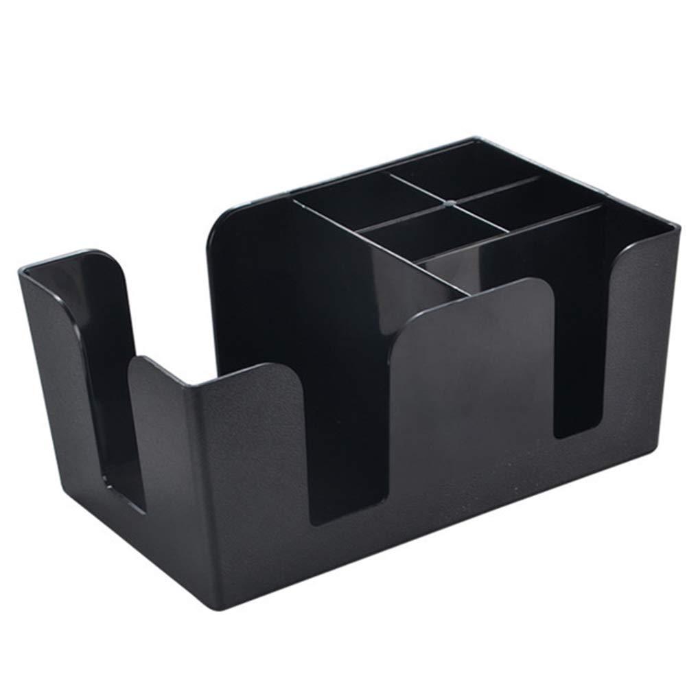 Yzki Tama/ño Libre servilletero Multifuncional Caja de Almacenamiento para Barras servilletero Organizador de Barras Organizador de Bar de pl/ástico cl/ásico Negro