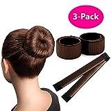 Brown Magic Bun Maker / 3 PACK/Perfect Hair Bun Making Tool/Donut Bun DIY Hair Styling/Hair Bun Shaper/Ballet Hair Bun