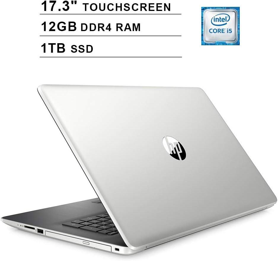 2020 Newest HP Pavilion 17.3 Inch Touchscreen Laptop (Intel 4-Core i5-8265U up to 3.9GHz, 12GB DDR4 RAM, 1TB SSD, Intel UHD 620, WiFi, Bluetooth, HDMI, Webcam, DVD, Windows 10 Home) (Silver)