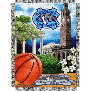 North Carolina Tar Heels NCAA Woven Tapestry Throw (Home Field Advantage) (48x60