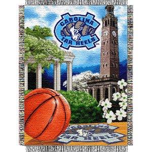(North Carolina Tar Heels NCAA Woven Tapestry Throw (Home Field Advantage) (48x60