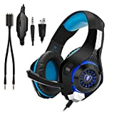 Gaming Headset for PS4|Tezewa Xbox One Gaming Headset|PC Gaming Headset|Stereo PS4 Headphones with Mic|LED Gaming Headphones With Microphone for Xbox One PSP Netendo DS PC Tablet For Sale