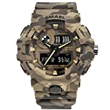 MISSKERVINFENDRIYUN Men's Digital Sports Military Outdoor Watch With Digital And Analog Display