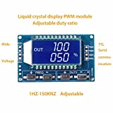 WILLAI 1pc Adjustable LCD Diaplay PWM Signal Generator Pulse Frequency Duty Cycle Module