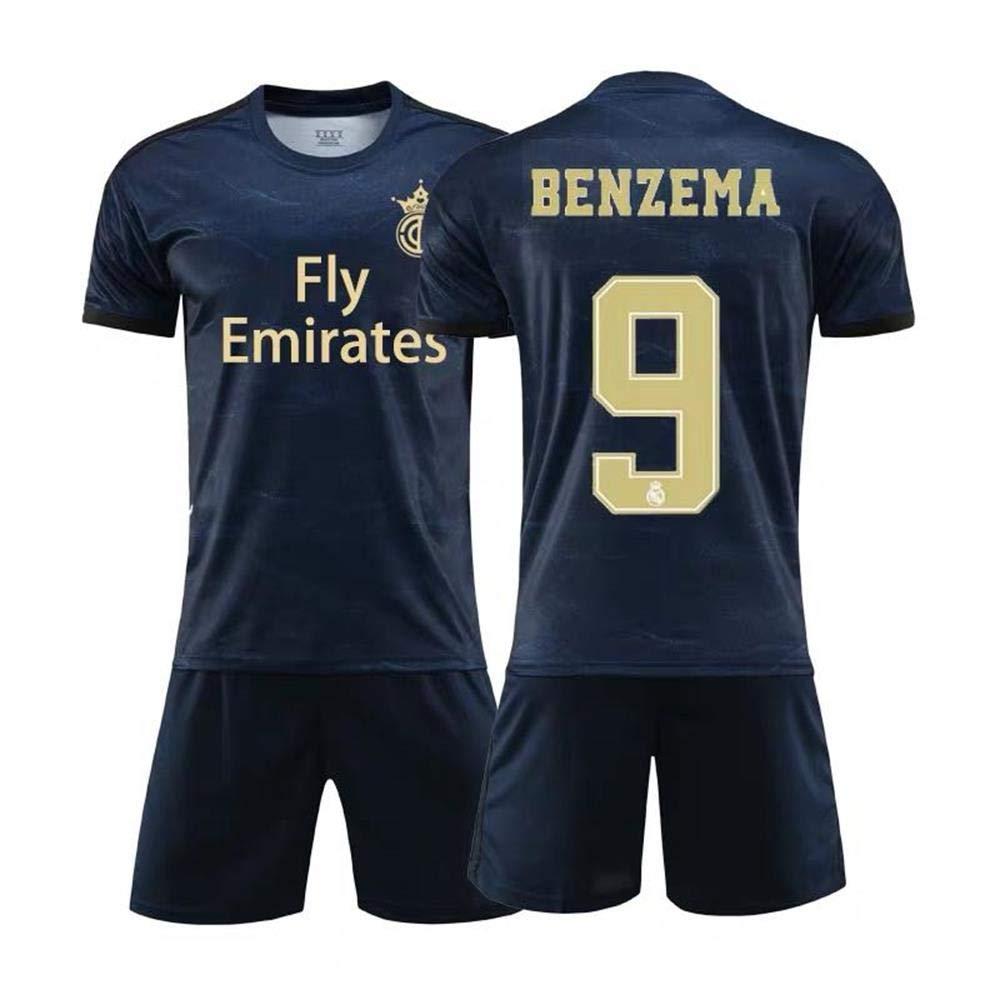 Ni/ños Camiseta Deportiva De Lyon//Real Madrid 9Karim Benzema Azul Hombres Y Mujeres HANGESS Uniforme De F/útbol De La Camiseta Espa/ñola Ni/ños Temporada 2018-2019 Licencia Oficial
