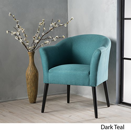 Christopher Knight Home 299470 Cosette Fabric Arm Chair, Dark Teal