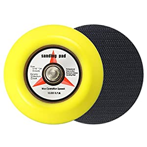 3-Inch No Holes Hook-and-Loop Wet/Dry Sanding Discs with Backing Pad,30 Pieces (3000 Grit)