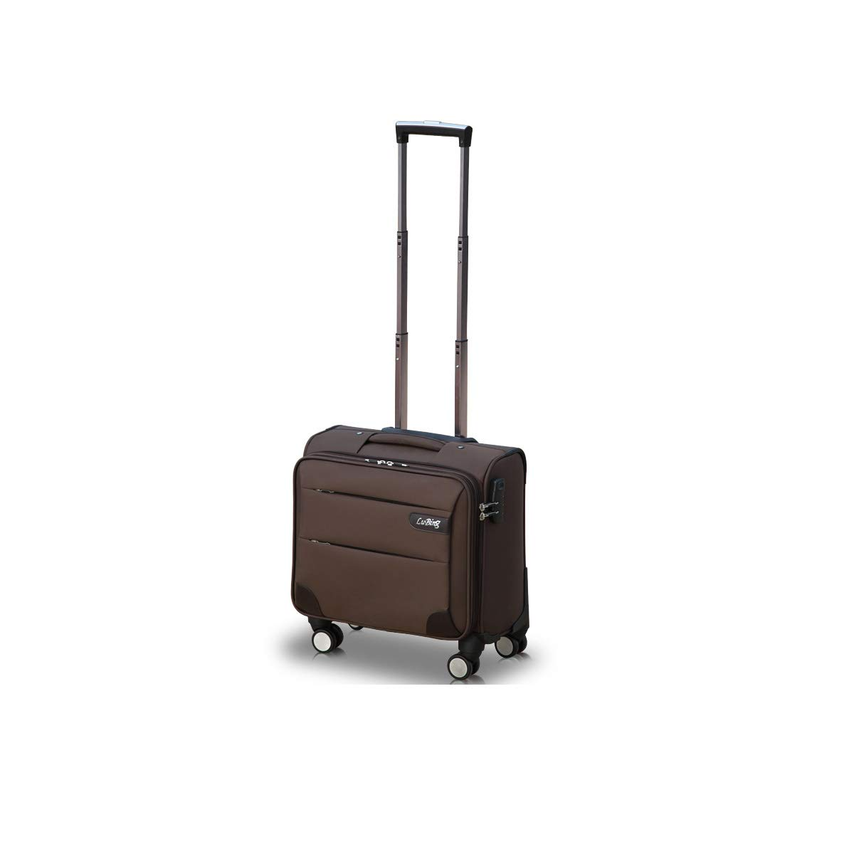 Black Latest Style Best Gift Shengshihuizhong Soft Rotating Luggage Trolley case Simple Style 16 inches Travel Organizer Carrying Luggage Color : Brown, Size : 16