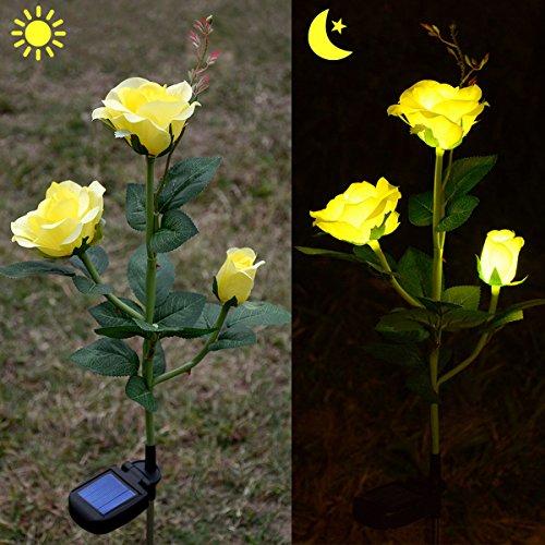 Yellow Rose Solar Light