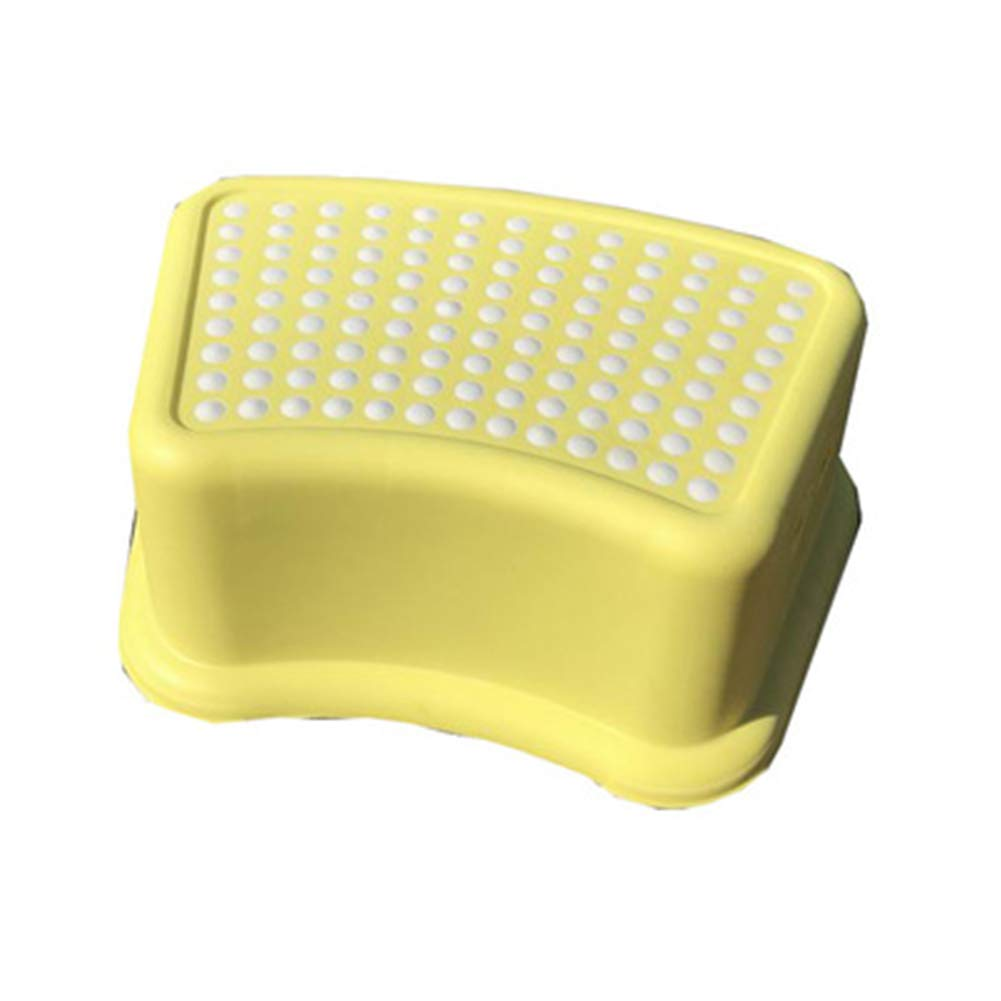 Bathroom Pedal Stool Non-slip Toilet Potty Hand Wash Pad Footstool child Stand On Potty Training for Bedroom, Kitchen, Living Room,Yellow by HB Toilet Stool