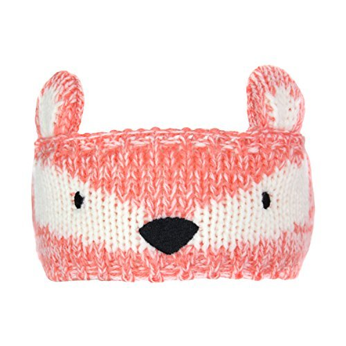 Critter Ear Warmer Headband for Kids- Warming Animal Knit Hat Winter Head Wrap (Fox) by Elliott and Oliver Co.