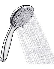 Finibo, soffione doccia universale ad alta pressione, doccetta per vasca da bagno, 5 modalità di funzione, in ABS cromato per una migliore esperienza di doccia