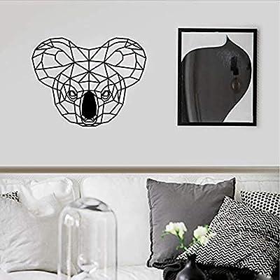 Kids Room Koala Tatuajes de pared Cabeza de animal geométrica ...