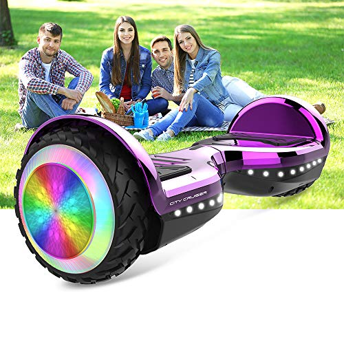 CITY CRUISER Hoverboard with Bluetooth Speaker, LED Light by UL 2272 Certified Best Gift for Kids Purple by CITY CRUISER (Image #1)