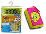 Looney Tunes - Shower Curtain + Bath Sponge