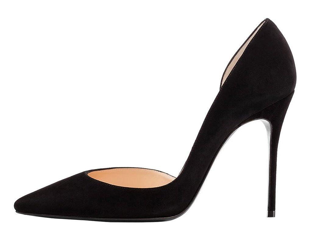 Kolnoo Damen Stiletto Stiletto Stiletto Spitz Zehen D'orsay High Heel Pumps Größe ff4b41