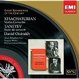 Khachaturian: Violin Concerto/Taneyev: Suite de Concert - David Oistrakh, Aram Khachaturian, Philharmonia Orchestra