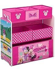 Delta Children Design & Store 6 Bin Toy Storage Organizer, Disney Minnie Mouse