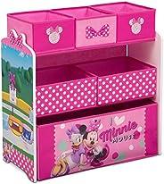 Delta Children Design & Store 6 Bin Toy Storage Organizer, Disney Minnie M