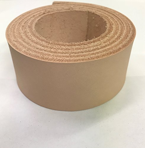 Vegetable Tanned Leather Tooling Strips from LEATHER ALTERNATIVE Veg Tan Cowhide Leather for Making Belts Easy to Emboss Stamp and Tool 8/9oz. - 1 1/2