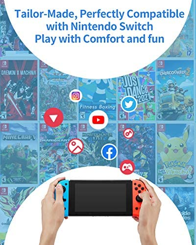 Joypad Controller Compatible with Nintendo Switch, Replacement for Switch joycon, Switch Controller Joypad with Back Map Button/Turbo/Dual Shock/Motion Control L/R Remote Gamepad