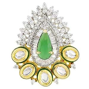 Arabella Luxuries Ladies Alloy Apsara Ring - Free Size