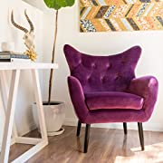 Halifax | Velvet Button-Tufted Arm Chair | Fuchisa