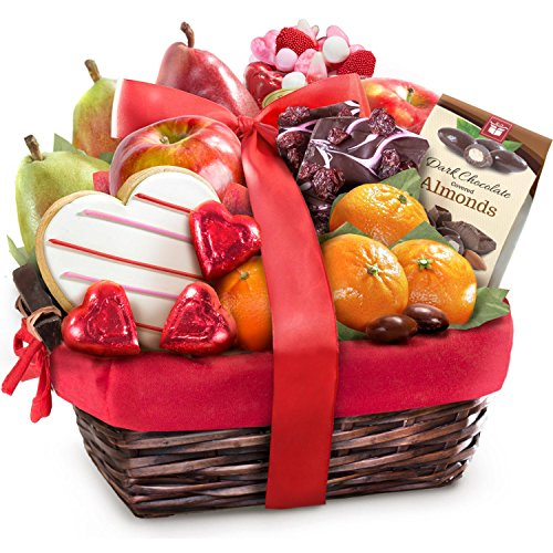 Valentine Treasures Fruit Gift Basket