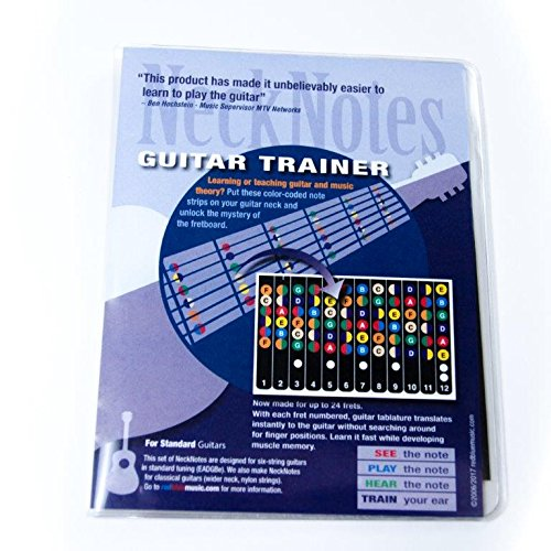 Amazon.com: NeckNotes Guitar Trainer | Color Coded Fretboard Fret ...