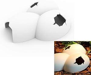 CatYou Reptile Cave, Hide-Away Reptile Tank Décor (Egg Look)
