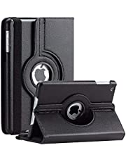 For Apple iPad 2019 7th Gen 10.2 inch Black Leather Rotating Case Cover