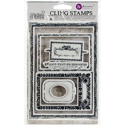 Prima Marketing Clear Stamp - Prima Marketing 814687 Mini Frames Iron Orchid Designs Cling Stamps, 5