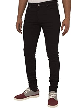 c36ae56cd4a ENZO Mens Super Skinny Slim Fit Stretch Denim Retro Jeans Pants at Amazon  Men s Clothing store