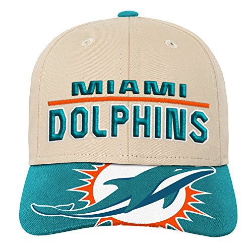 Outerstuff NFL NFL Miami Dolphins Youth Boys Retro Style Logo Structured Hat Aqua, Youth One Size