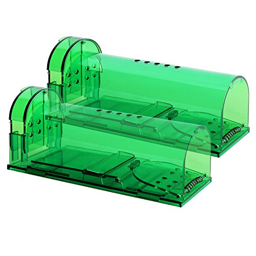 Authenzo 2019 Upgrade Version Humane Mouse Trap Smart No Kill Mouse Trap Catch and Release, Safe for People and Pet-2 Pack