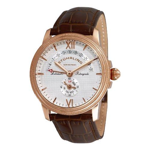 Stuhrling Original Men's 340.3345K2 Symphony Saturnalia Chairman 16k Rose Gold-Plated Automatic Watch
