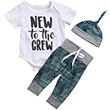 Best Newborn Outfits - Cute 3pcs Newborn Baby Boys Letter Print Romper Review