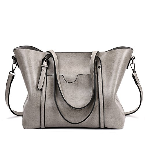 Gray Black Leather - 3