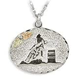 Black Hills Gold Silver Barrel Racer Necklace