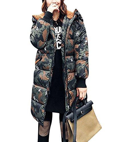 Vert Duvet Longue Camouflage Coton Épais Plus Section Veste Micai En Femme xU6vnfqwq