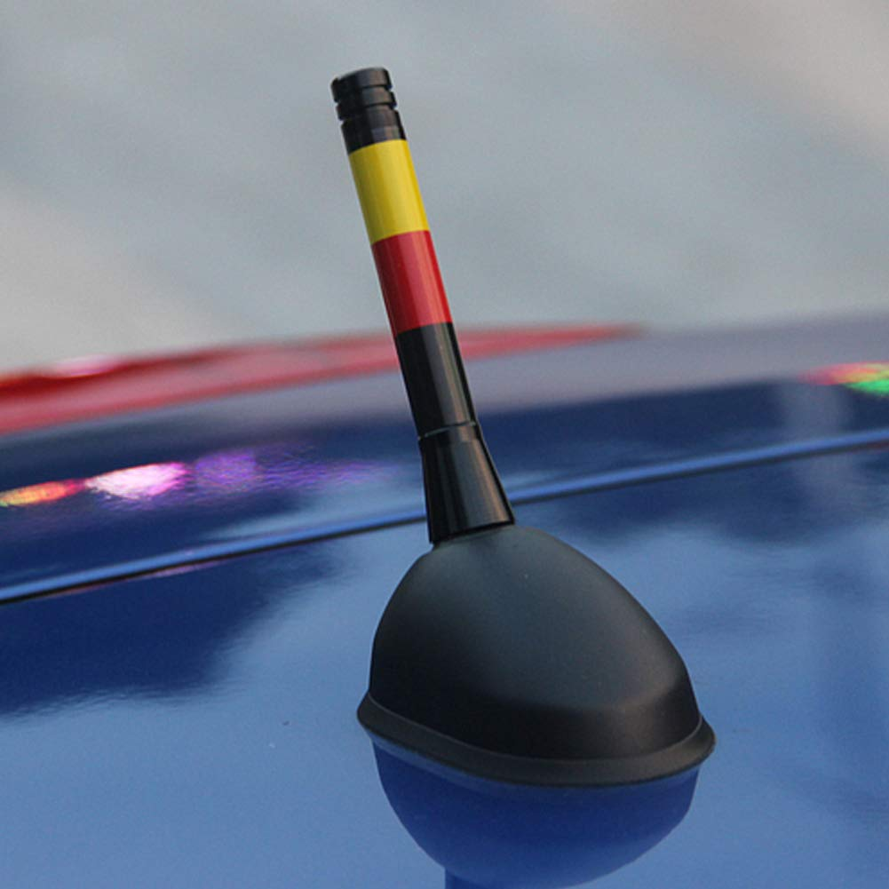 MINICLUB 3 Red//Blue Union Jack UK Flag Theme Short Roof Top Radio Antenna Stub for Mini Cooper /& More Other Cars All Models