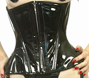 Black Leather Extra Small Short Victorian Corset