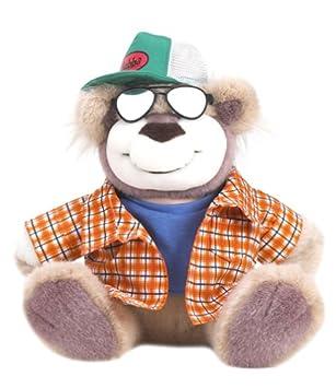 Real Talkin Bubba Blue Shirt Green Cap Sunglass Dude Wisecracking Smart Aleck Talking Plush Bear