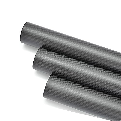 23 Mm Wing - Abester 2 Pack Carbon Fiber Tube 23mm x 21mm x 500mm Roll Wrapped Matt Surface Shaft Quadcopter Drone Arm Wing Tube Camera Rig Camera Rail DIY Rod