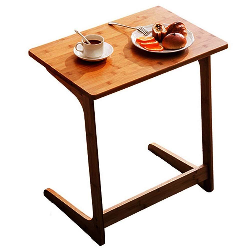 Ecktisch/Computer Freizeit Tisch Mode Bambus Sofa Beistelltisch Nacht Laptop-Tisch, Persönlichkeit Ecke/Teetisch Zhuo L-förmigen Wohnzimmer Schreibtisch (Größe: 60x40x65cm)