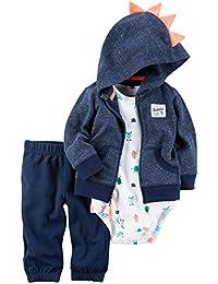 Baby Boys' 3-Piece Monster Hoodie Set