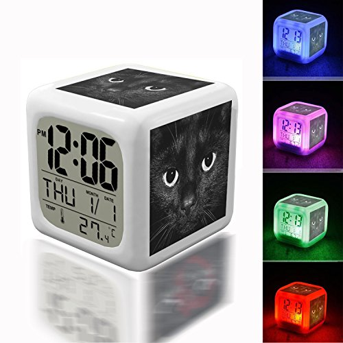 Shrek Alarm Clock - Digital Alarm Thermometer Night Glowing Cube 7 Colors Clock LED Customize the pattern 266.Shrek by llamnudds Shrek by llamnudds