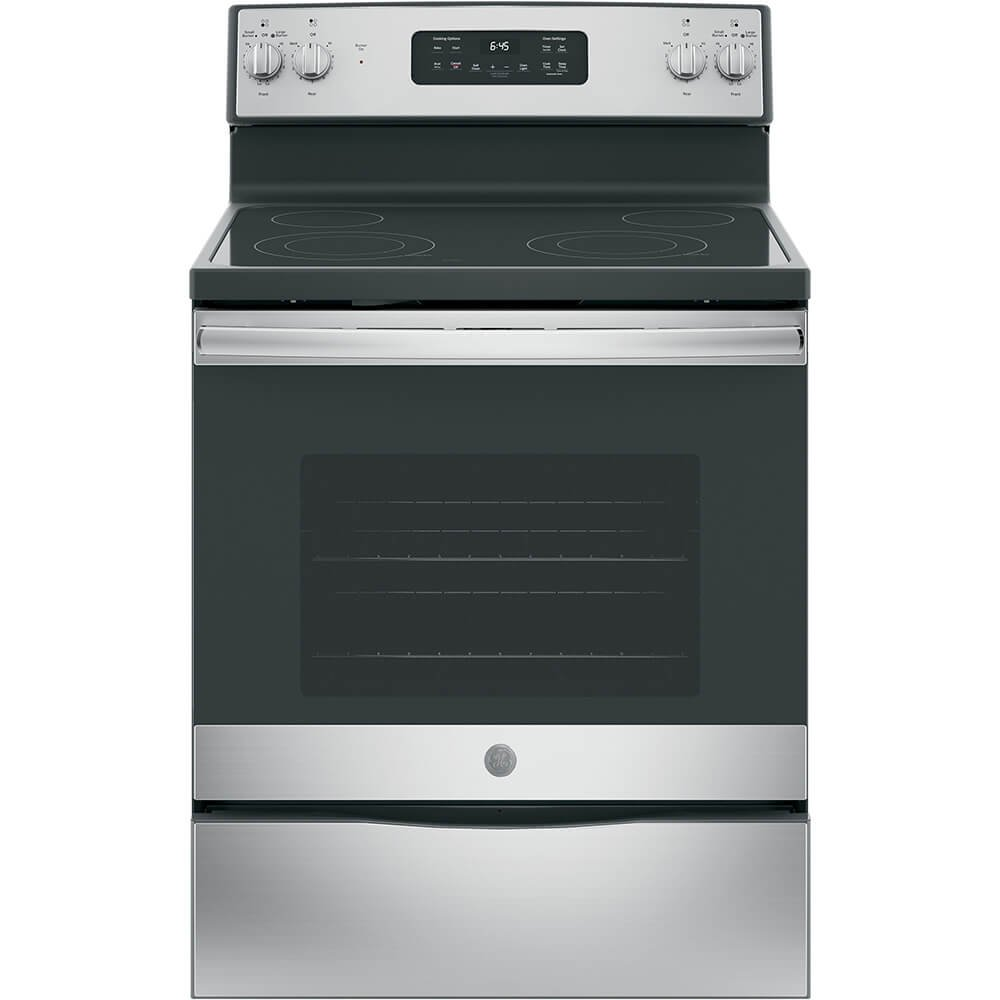 "GE JB645RKSS 30"" Stainless Steel Electric Smoothtop Range"