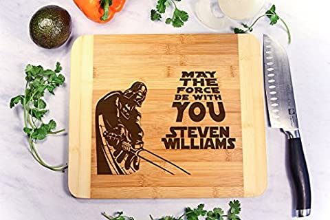 Personalized Cutting Board Engraved Bamboo Chopping Block HDS - Star Wars Darth Vader - Finish Cutting Boards