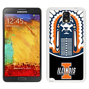 Customized Galaxy Note 3 Cases with Ncaa Big Ten Conference Football Illinois Fighting Illini 3 Protective Cell Phone Hardshell Cover Case for Galaxy Note 3 III N900 N9005 White